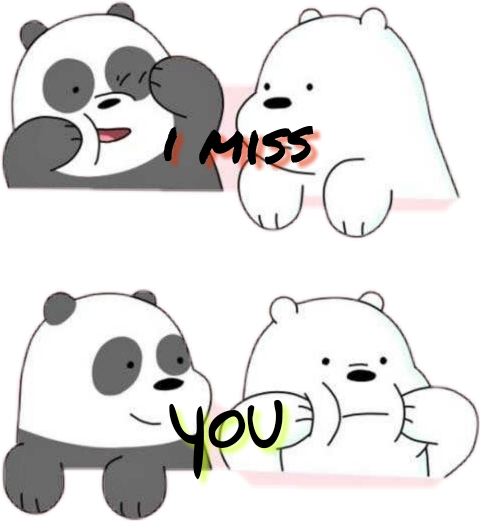Transparent miss you clipart - Miss You - We Bare Bears