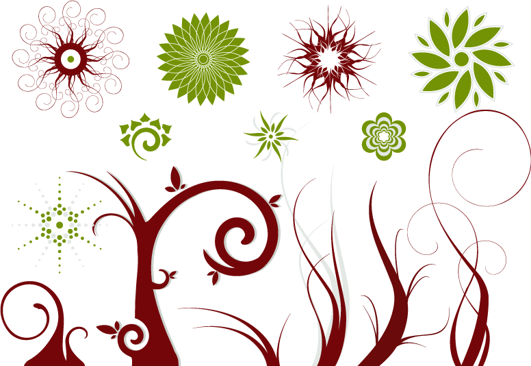 Flowers Vectors Clipart Swirl - Free Vector Flowers , Transparent