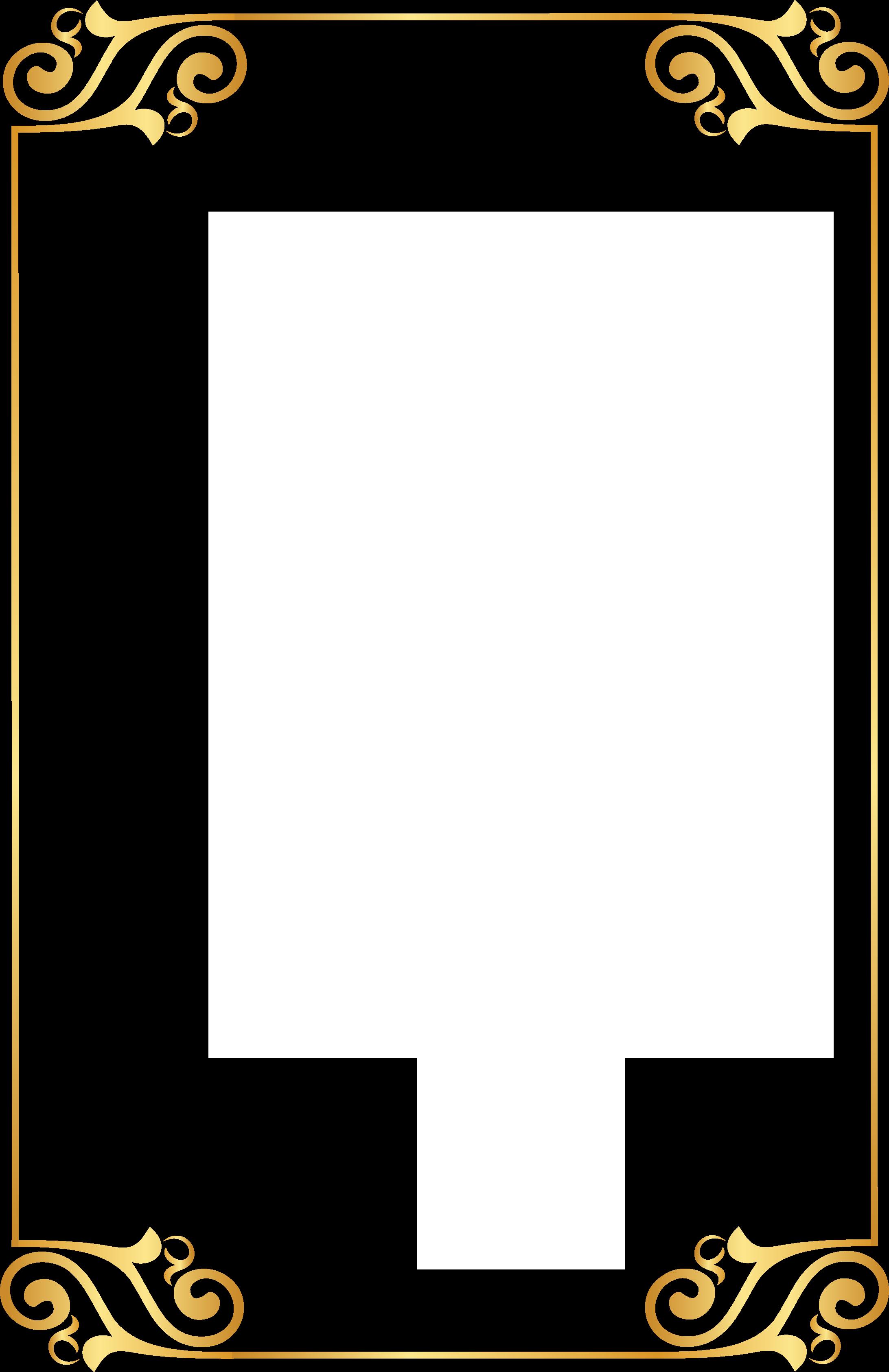 Gold Pattern Frame Pattern 2184*3372 Transprent Png ...