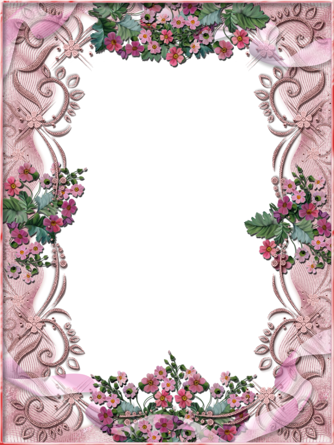 Transparent free flower clipart borders - Free Flower Frame For My Picture Download - Beautiful Big Frames