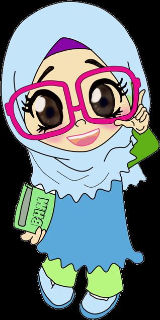 Bunga Biru X Png Teachers Day Pinterest Gambar Kartun Muslimah Lucu Transparent Cartoon Jing Fm
