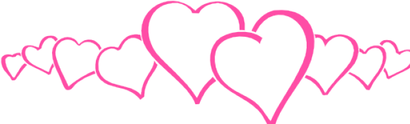 Transparent pink heart clipart - Hearts Clipart Pink - Row Of Pink Hearts