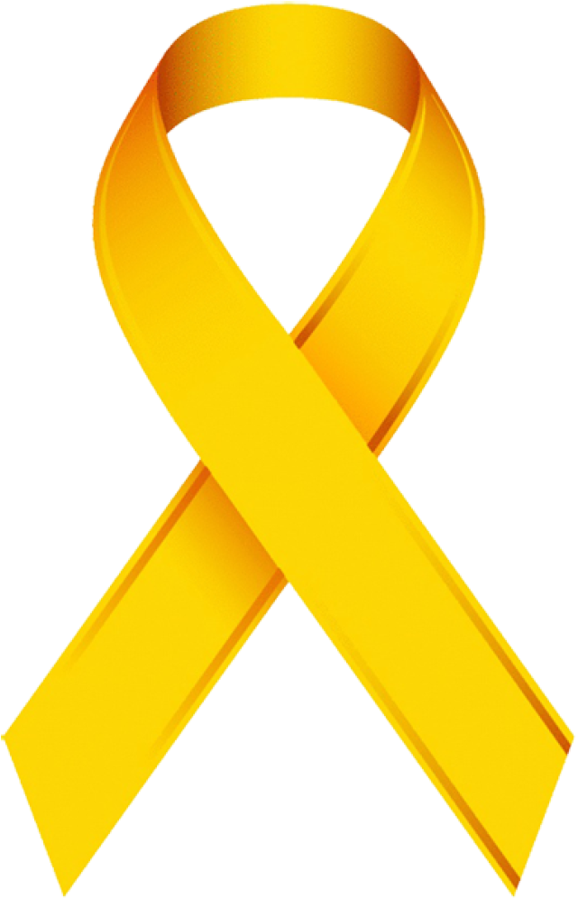 Transparent cancer ribbon clipart - Gold Cancer Ribbon Clip Art - Yellow Ribbon Pediatric Cancer