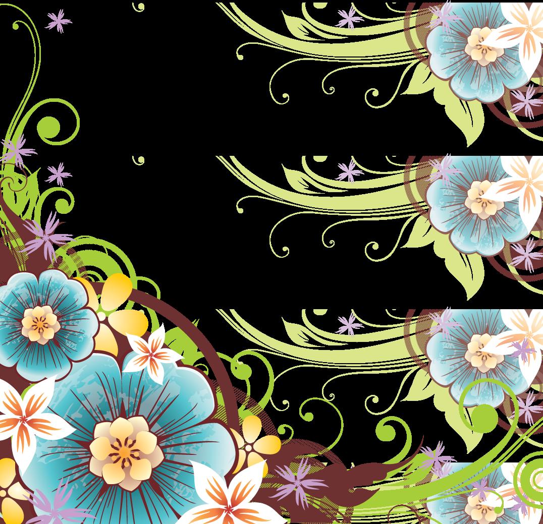 Transparent spring flower clipart - Spring Flower Border Png - Flower Vector Border Png