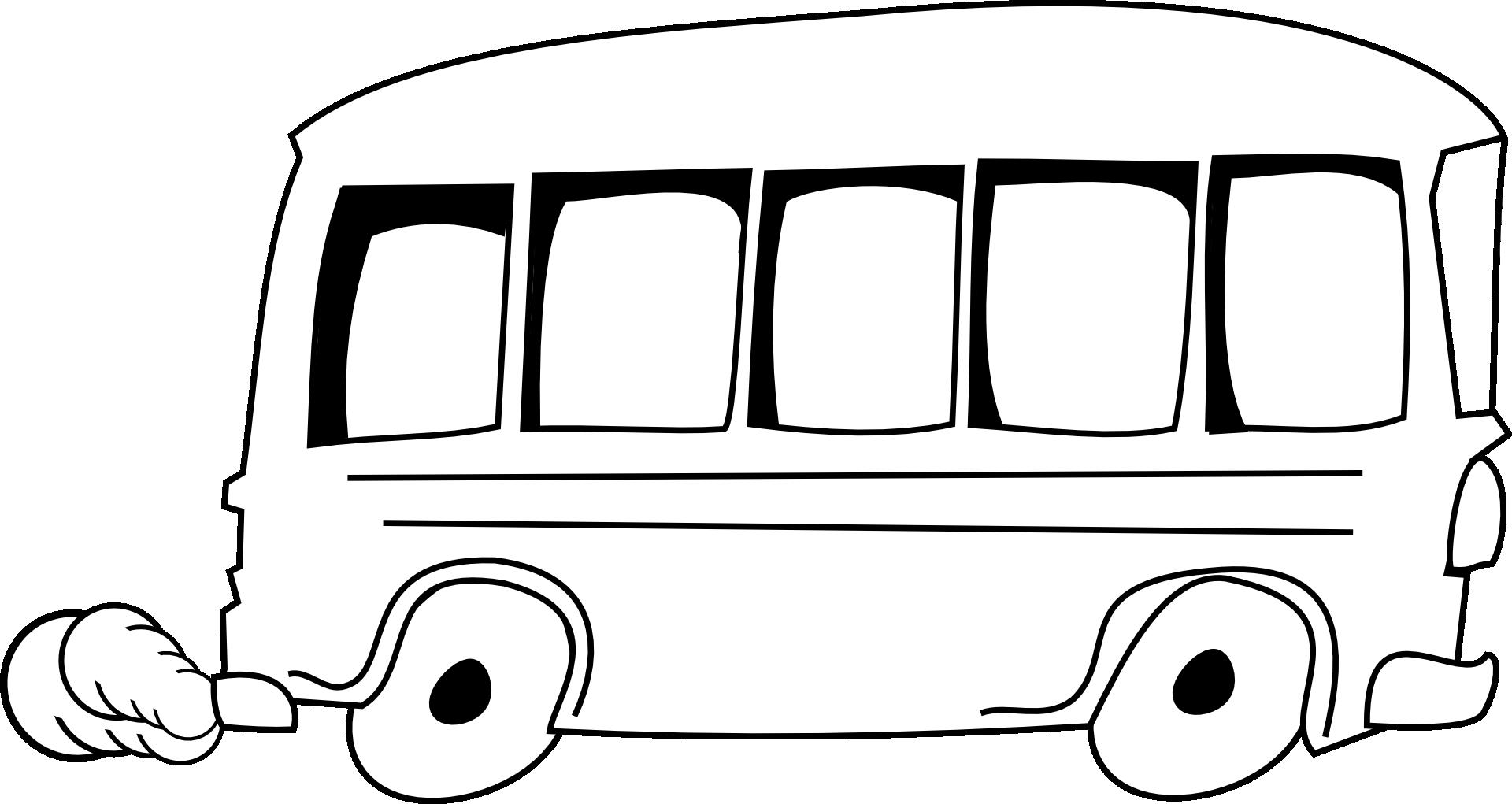 Transparent school bus clip art - Bus Clipart Free - Outline Of A Bus
