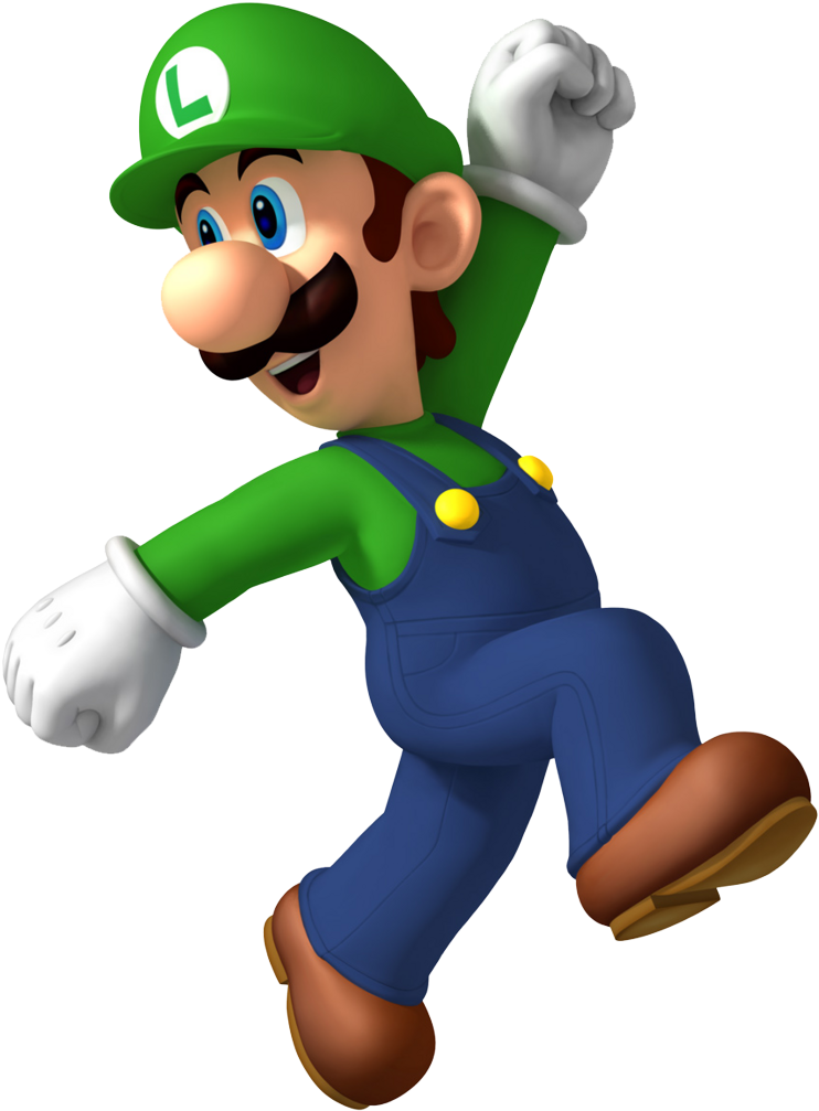 Super Mario Clipart Video Game Character Luigi Png