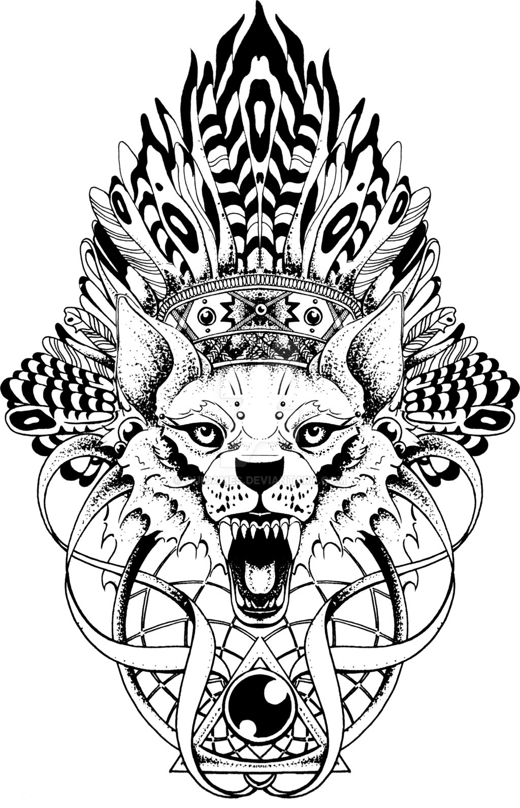 Paisley Drawing Wolf For Free Download Wolf Totem Pole Tattoo Transparent Cartoon Jing Fm