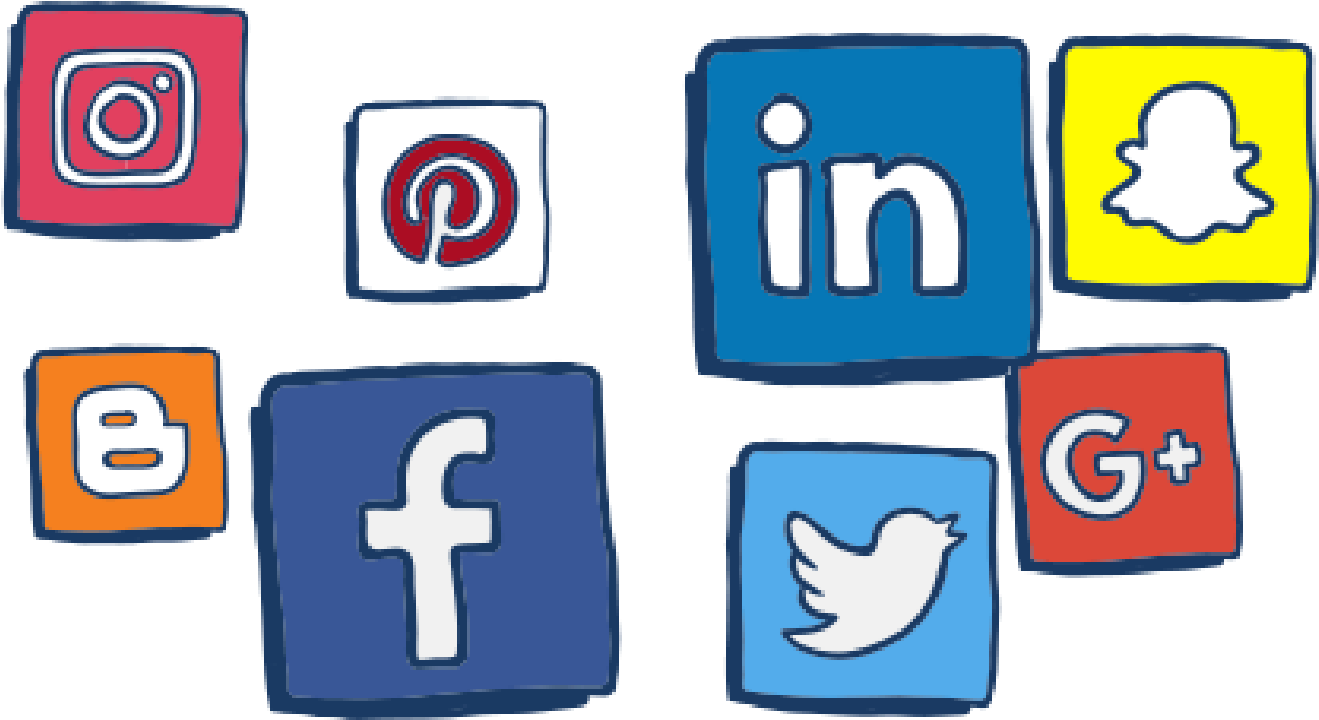 Transparent social media icons clipart - Things To Be Aware Of On Social Media - Aware On Social Media