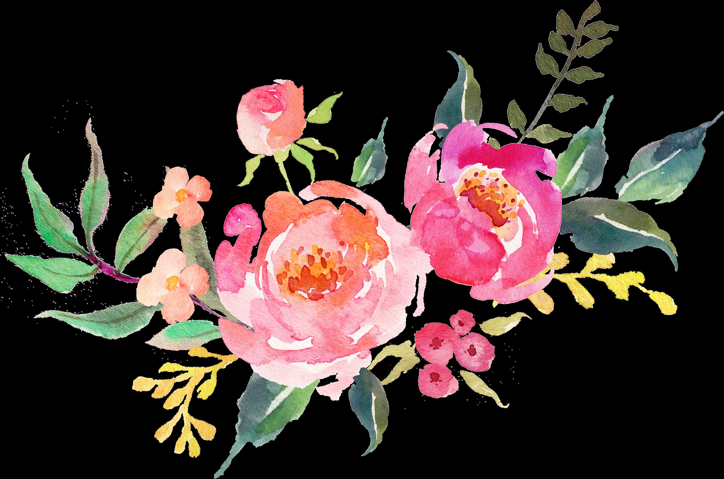 Flores Acuarela Png - Watercolor Flowers Transparent ...