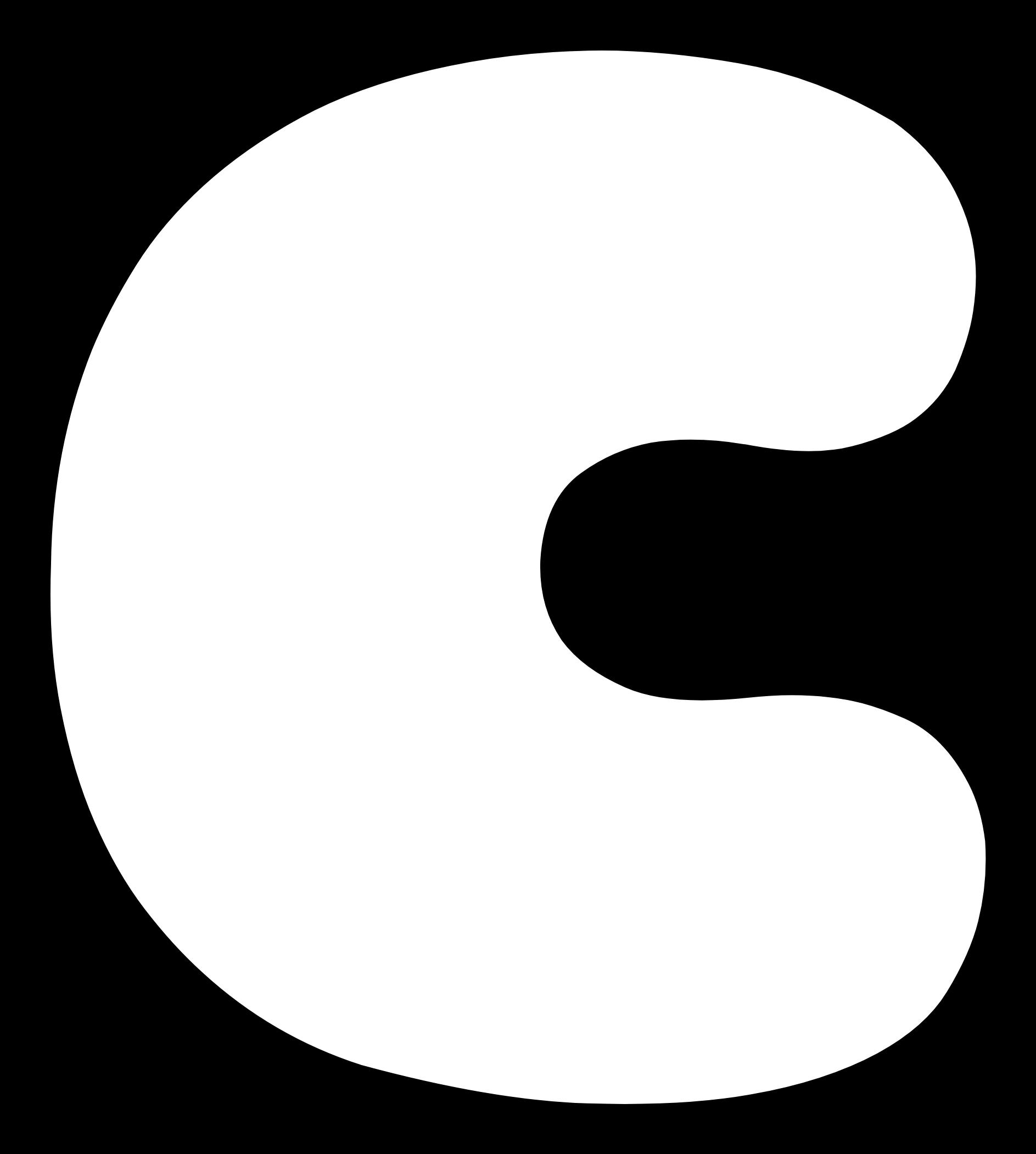 Transparent free clipart letters to print - Uppercase Bubble Letter C - Make Bubble Letters C