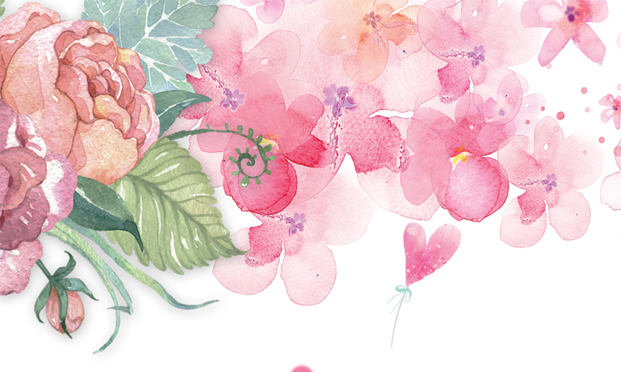 Pink Watercolor Png Pink Watercolor Flower Watercolor Png