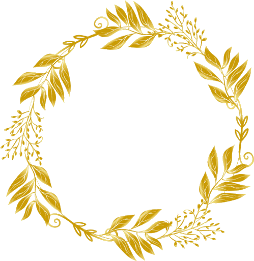 Golden Gold Wreath Floral Flowers Flower Designs Gold Leaves Png Transparent Cartoon Jing Fm