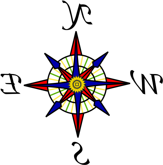 image regarding Printable Compass named Clipart Of East, Printable And Winds - Comp Rose Within Colour