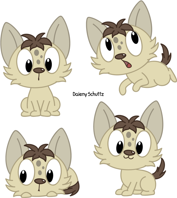 Transparent kawaii dog clipart - Collection Of Free Hyenas Download On Ubisafe Ⓒ - Kawaii Cute Hyena