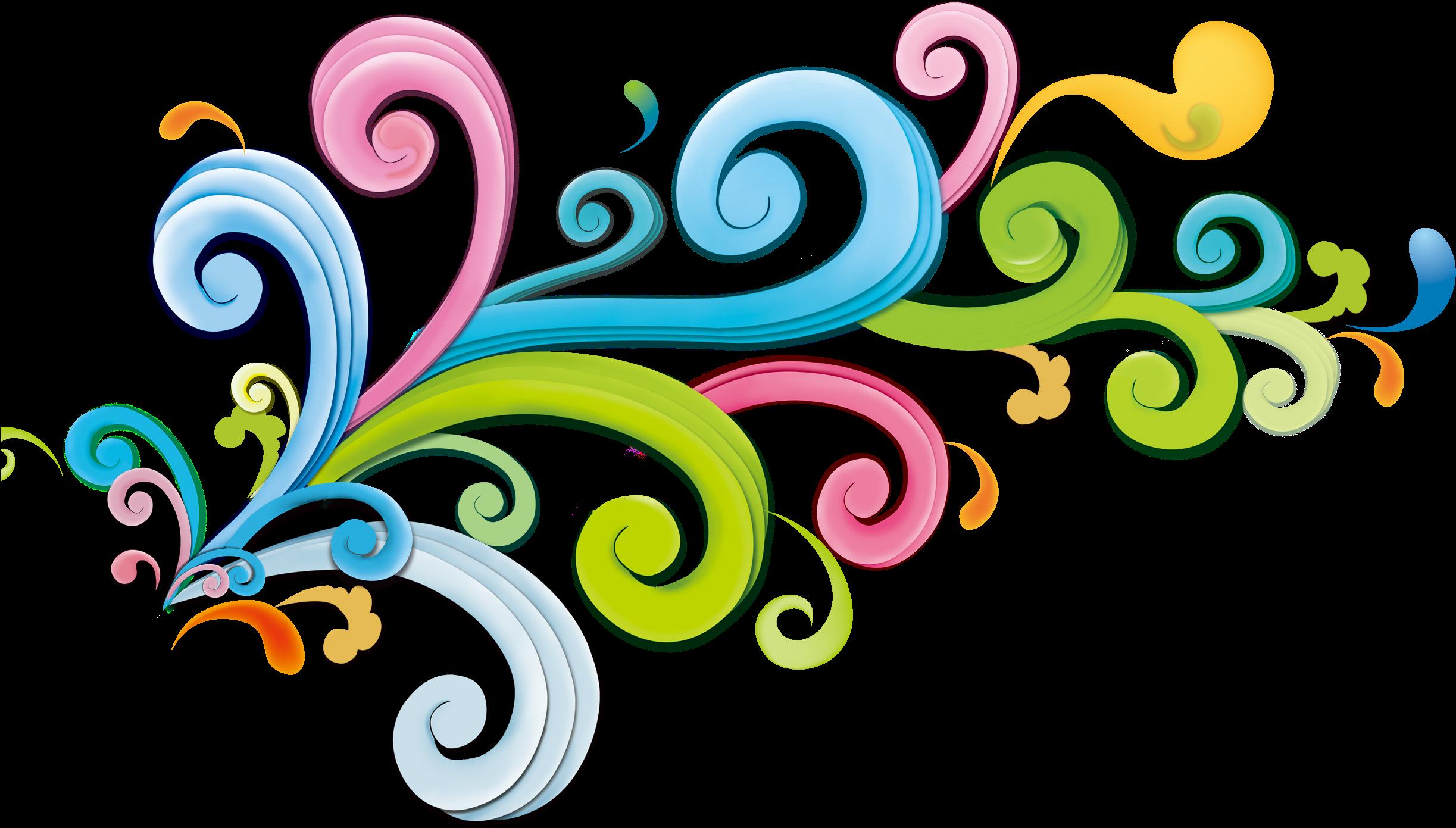 Transparent curly design clipart - Decorative Clipart Curly - Creative Graphics Design Background