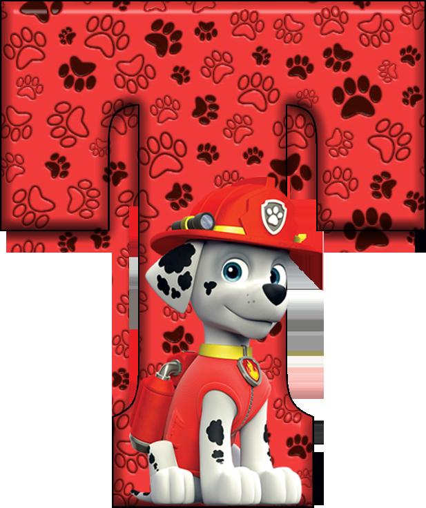 Transparent paw patrol marshall clipart - *✿**✿*t*✿**✿*de Alfabeto Decorativo - Letra E De Patrulla Canina