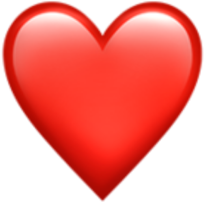 Transparent heart emoji clipart - Red Heart Emoji Png - Whatsapp Emoji Heart Png