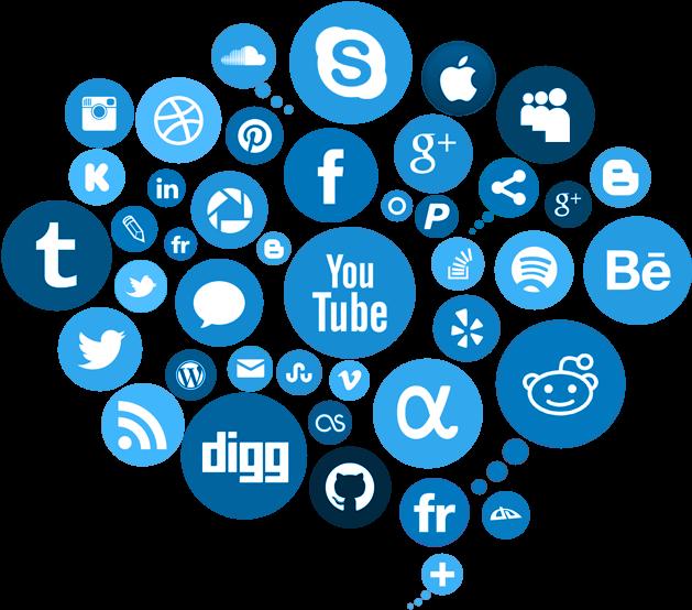 Transparent social network clipart - Social Media Free Png Image - Transparent Background Social Media Png