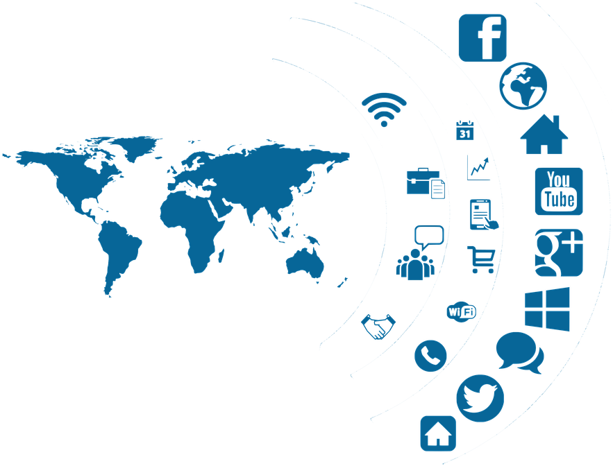 Transparent social network clipart - Social Media Icon Continents Globe Country - Role Of Social Media In Our Personal Life
