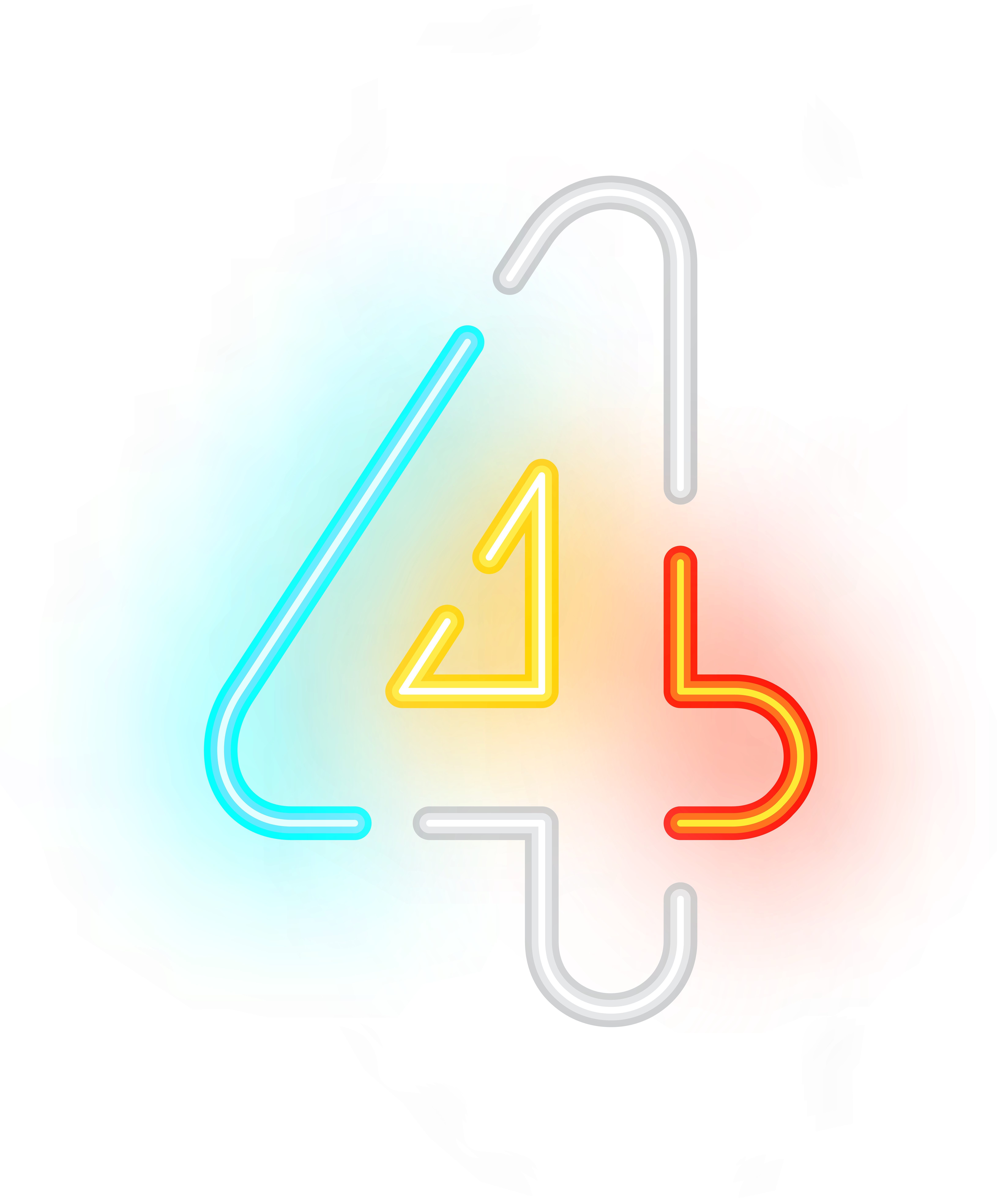 Transparent number sign clipart - Transparent Neon Clipart