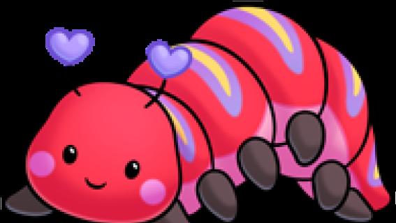 Caterpillar Clipart Red Caterpillar Lagarta Vermelha Em Desenho