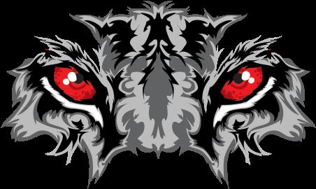 Transparent tiger eye clipart - Printed Vinyl Black Tiger With Red Eyes Ⓒ - Tiger Eyes Vector