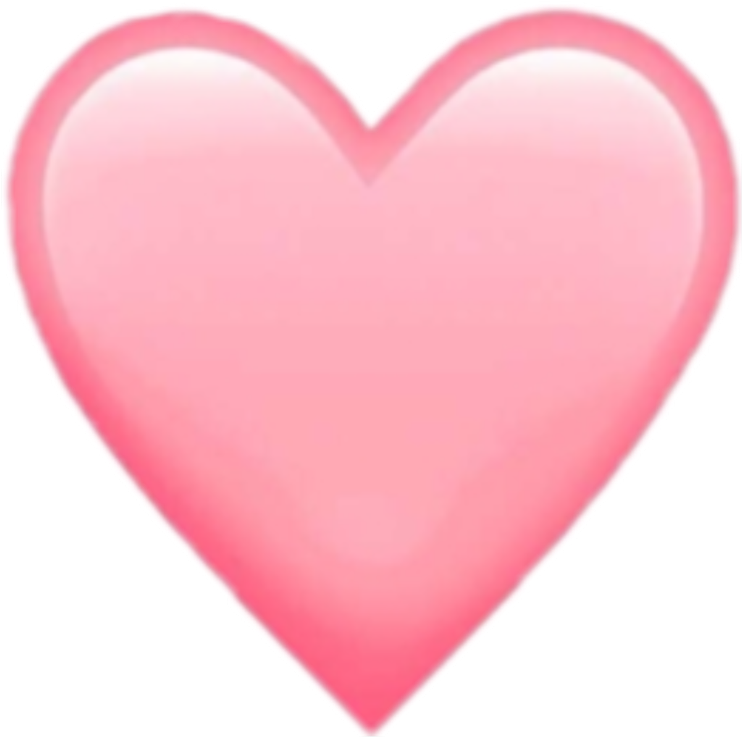 Transparent light pink heart clipart - @fakesmileari - Light Pink Heart Emoji