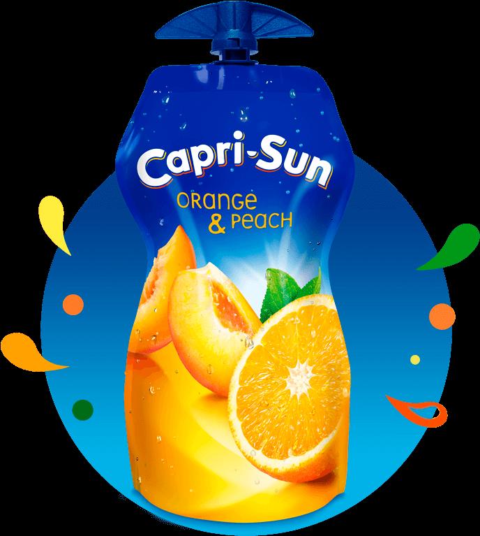 Transparent juice pouch clipart - Capri Sun Orange And Peach