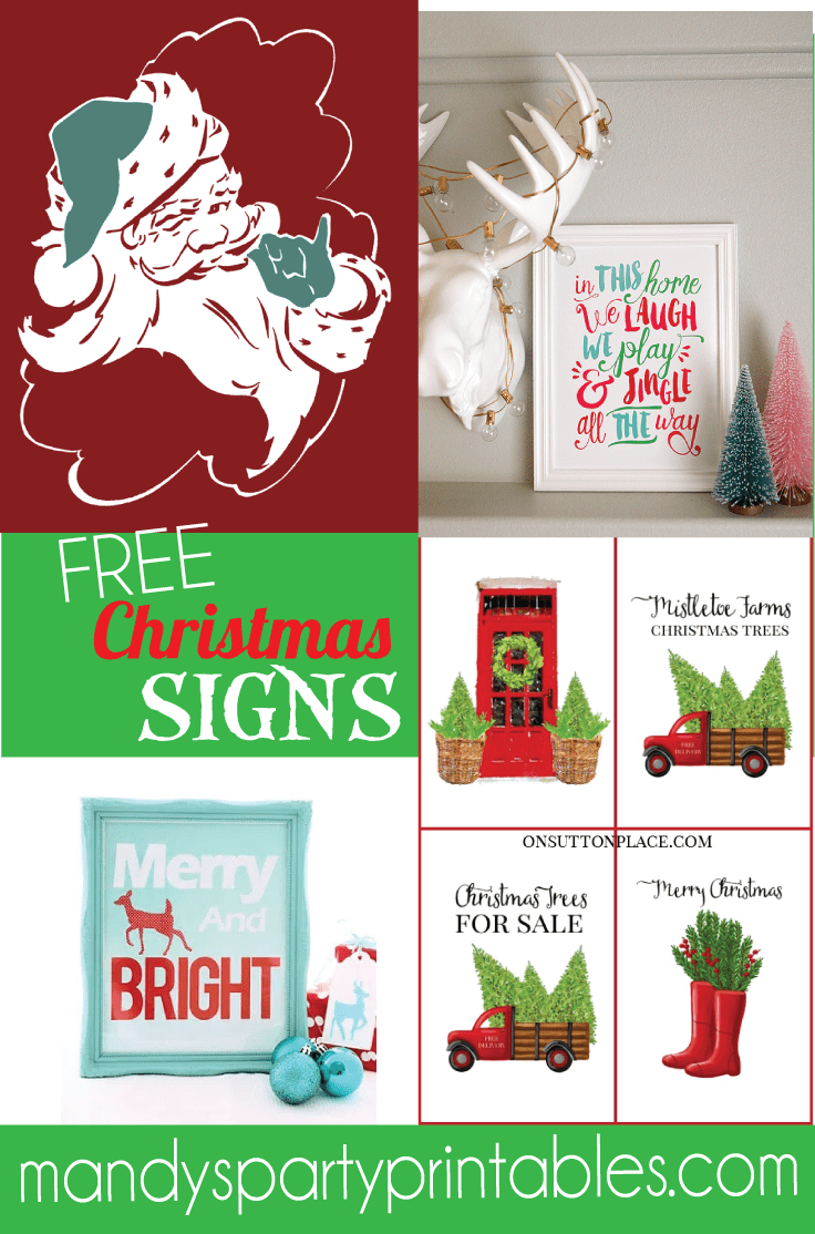 photograph about Free Printable Holiday Closed Signs named Free of charge Xmas Printable Signs or symptoms Roundup - Farmhouse Xmas