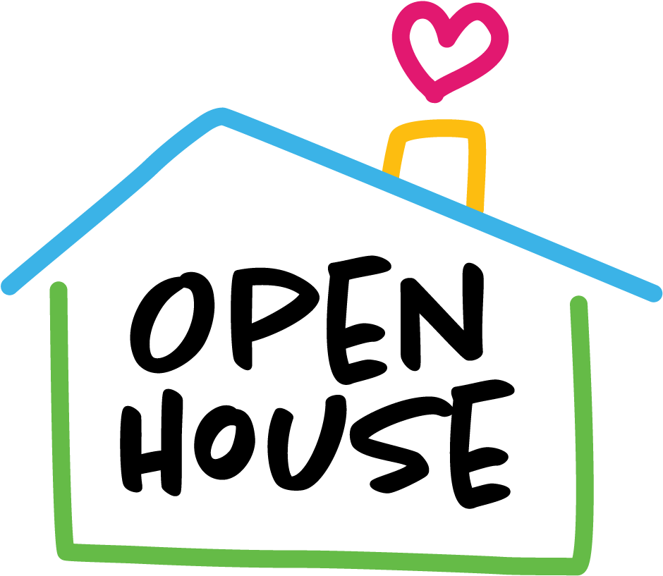 Transparent house with heart clipart - Open House - Open House Clipart