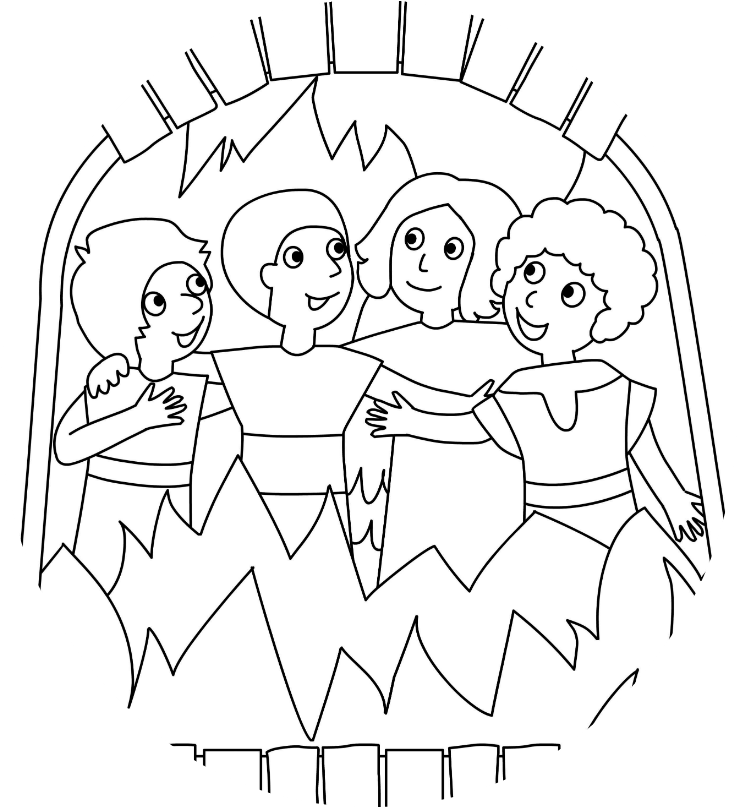 - Shadrach Meshach And Abednego Coloring Page Az Coloring - Three Hebrews In  The Fiery Furnace Coloring , Transparent Cartoon - Jing.fm