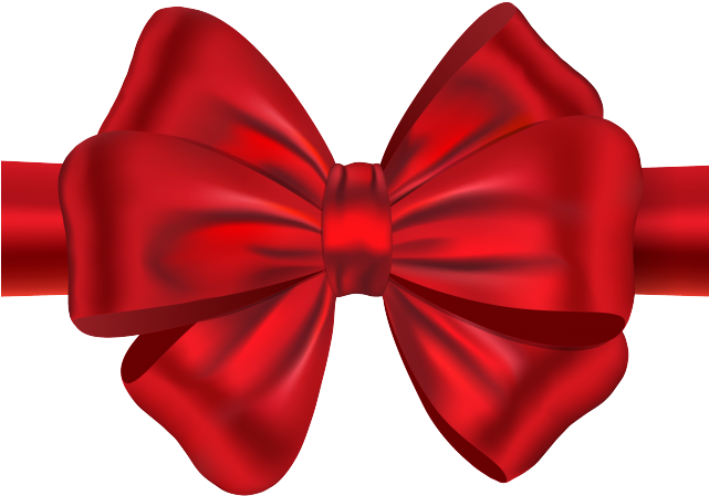 Drawn Bow Tie Transparent Background Christmas Ribbon