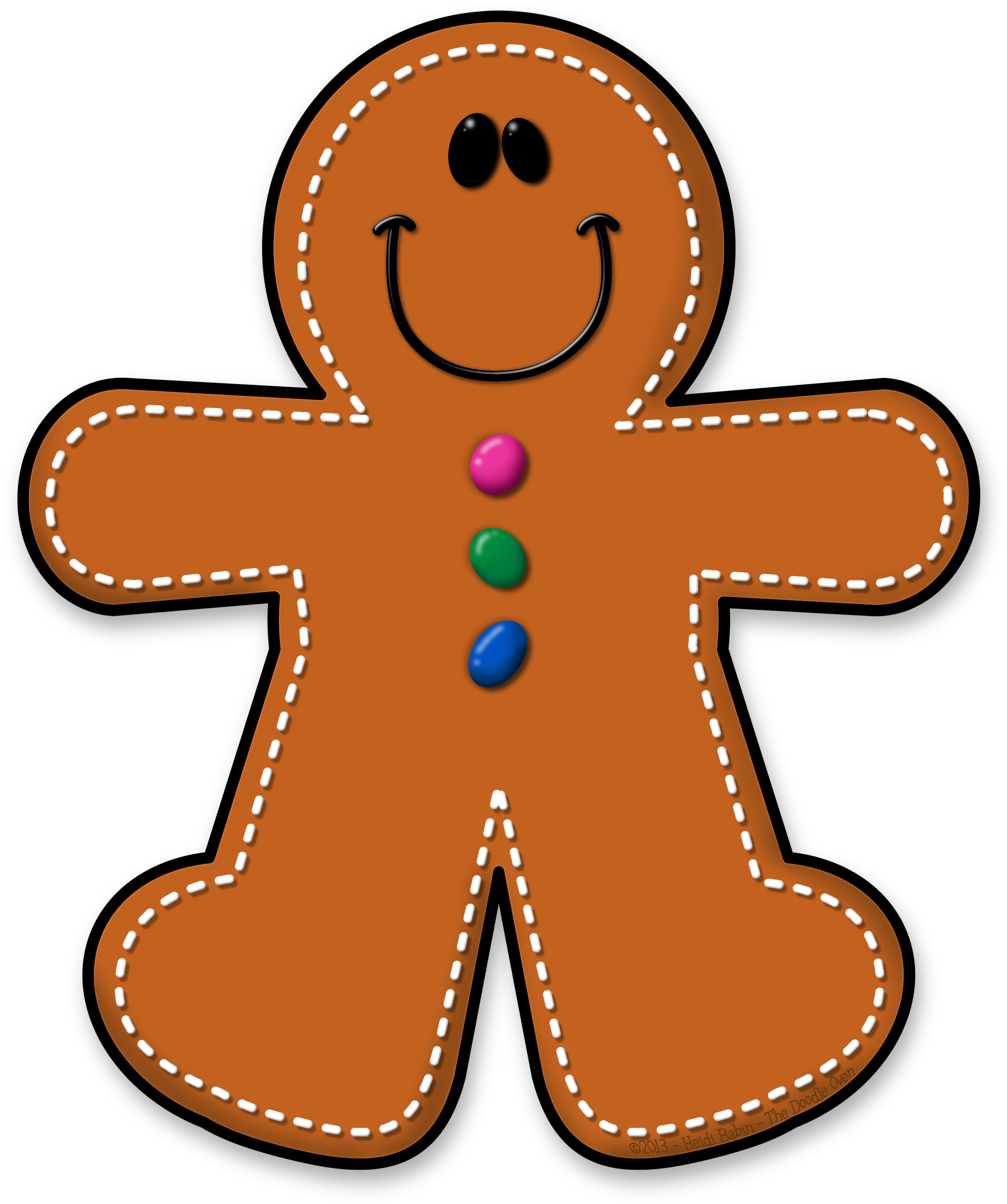 Transparent cute gingerbread man clipart - ✿**✿*ginger*✿**✿ - Clipart Gingerbread Man