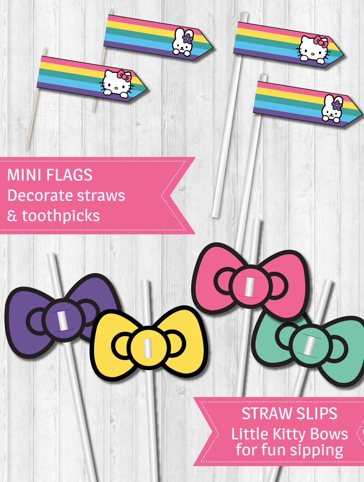 Transparent hello kitty bow clipart - Hello Kitty Party Decor Pack