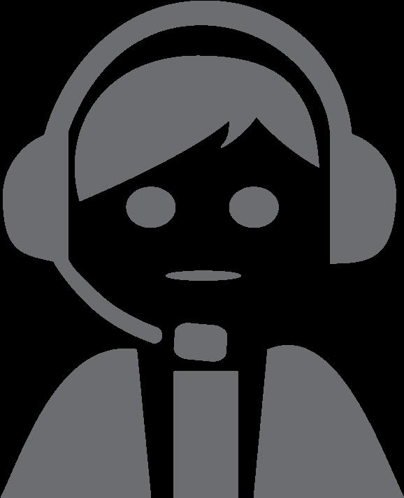 Transparent customer service agent clipart - Customer Support - Customer Service Agent Cartoon