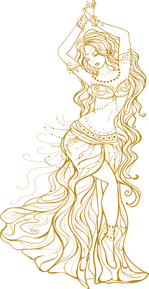 Learn To Dance Myalis Belly Dancer Drawing Png Transparent Cartoon Jing Fm