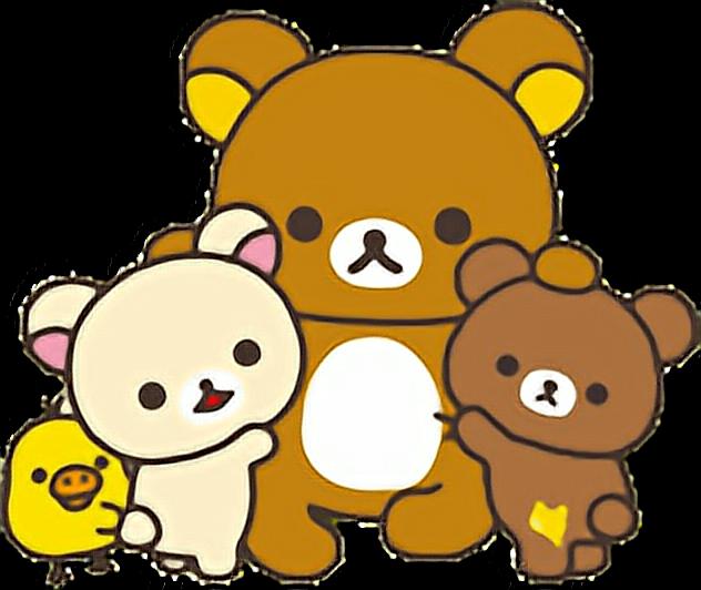 Transparent teddy bears hugging clipart - #teddybear #teddy #bear #chick #hug #bearhug #freetoedit - Rilakkuma Facebook Stickers