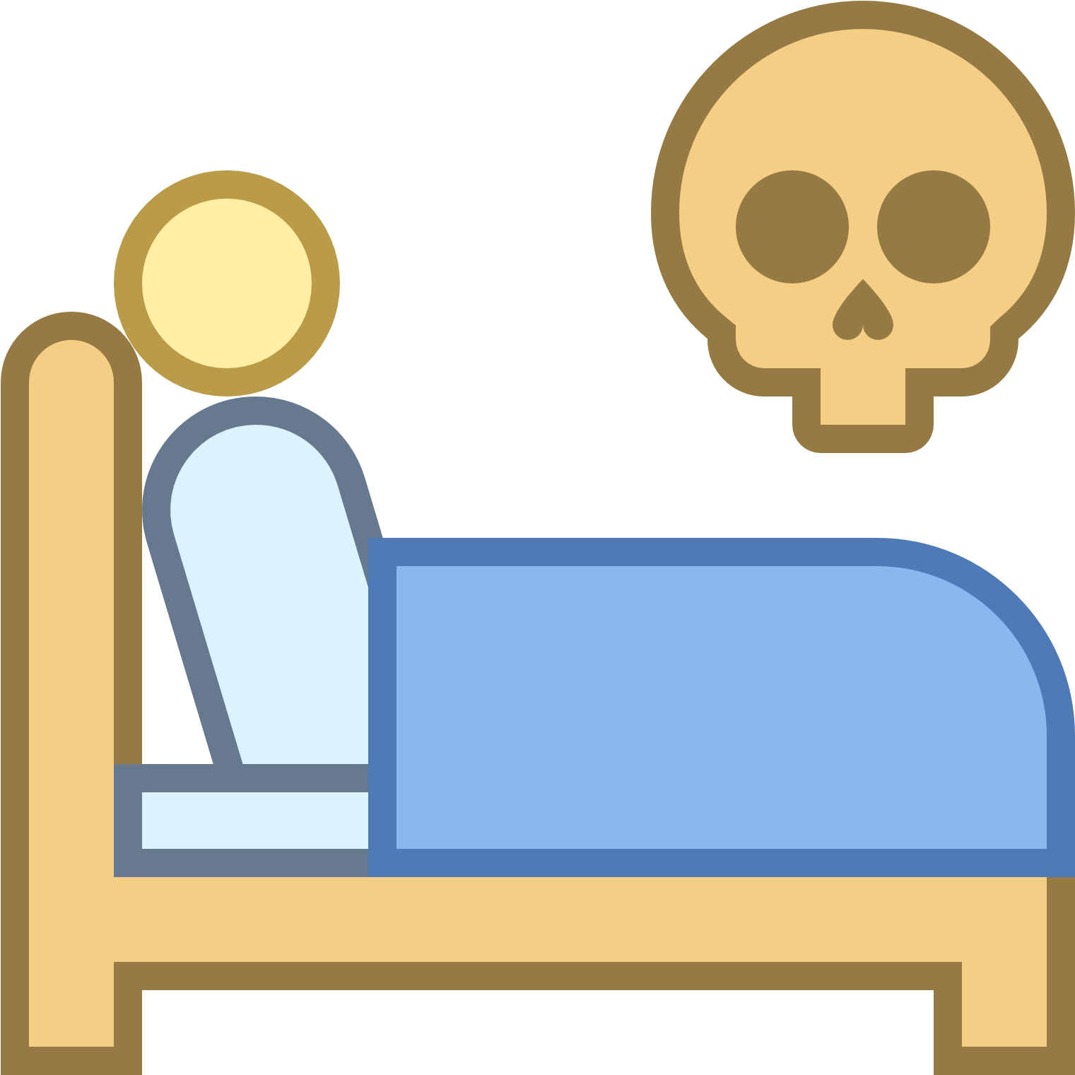 Transparent get ready for bed clipart - Die In Bed Icon Free - Make The Bed Icon