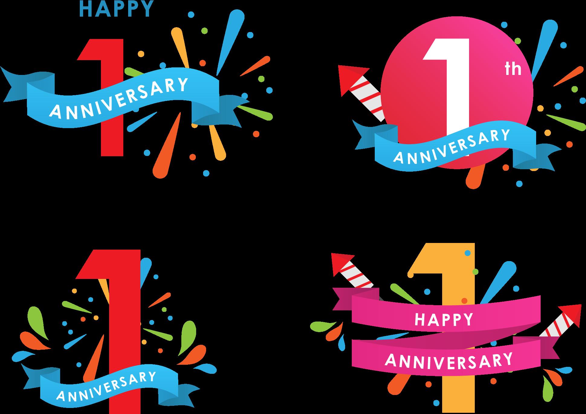 happy anniversary icons 1st anniversary logo png transparent cartoon jing fm 1st anniversary logo png transparent