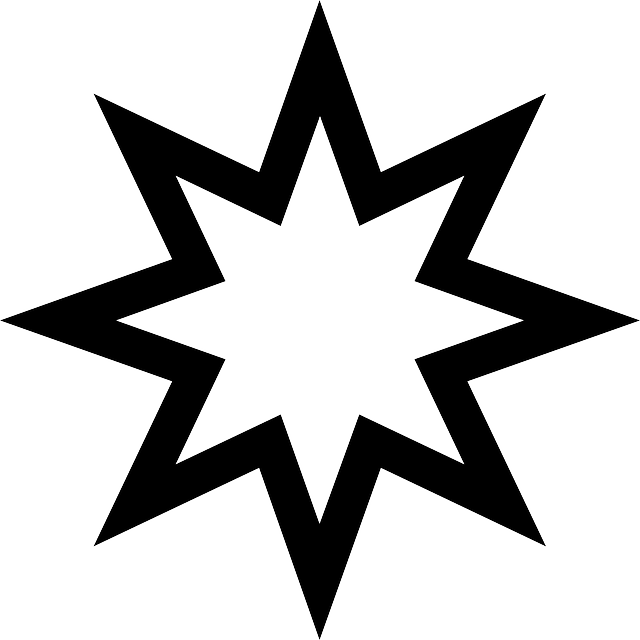 Transparent christmas clipart outlines - Outline Star Stars Christmas Space Outlines Public - 8 Pointed Star .png