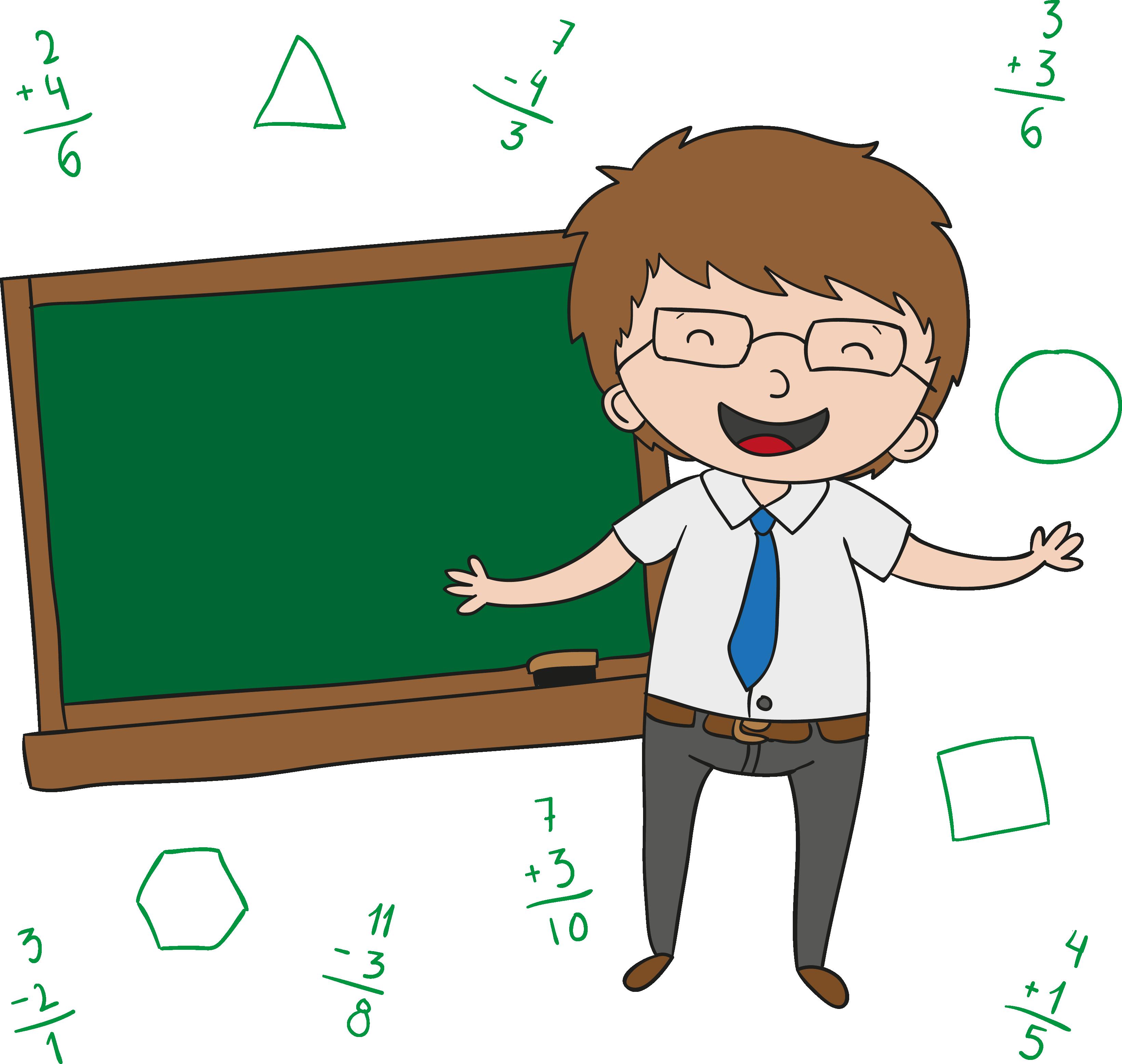 Transparent male teachers clipart - Teachers Day Cartoon Clip - Un Maestro Dibujo Animado
