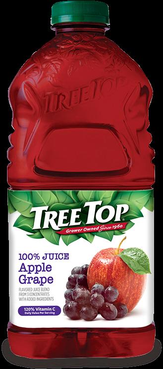 Transparent grape juice clipart - Apple Grape Juice Bottle - Tree Top Apple Juice