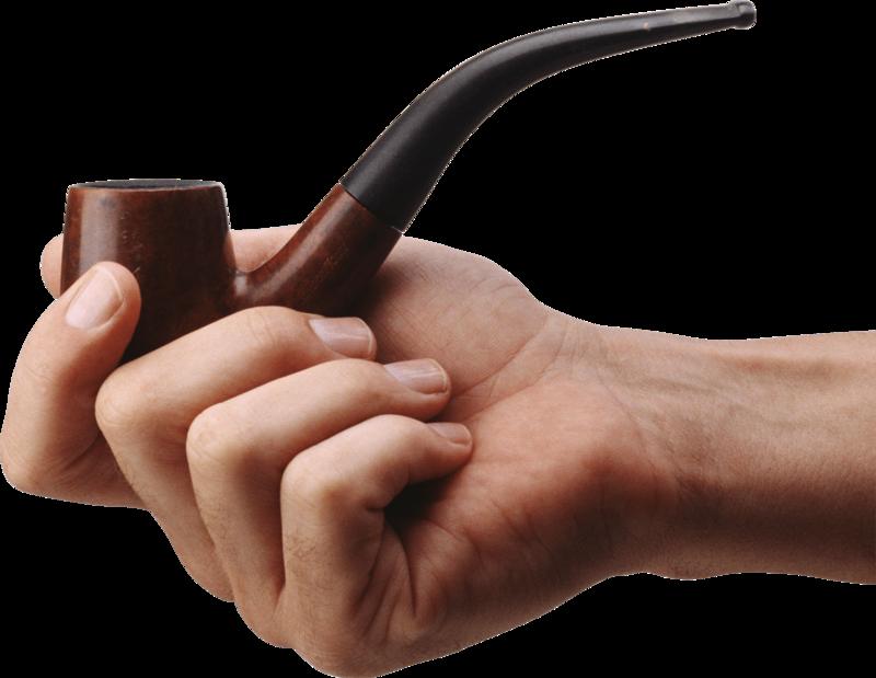 Transparent man smoking pipe clipart - Smoke Pipe - Hand Holding Smoking Pipe