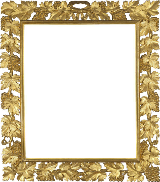 Transparent gold picture frame clipart - Download Gold Frame With Vine Transparent Png - Square Gold Borders Png