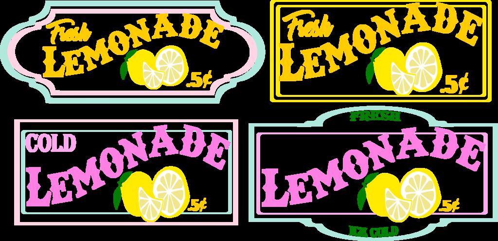 Lemonade Sign Clip Art