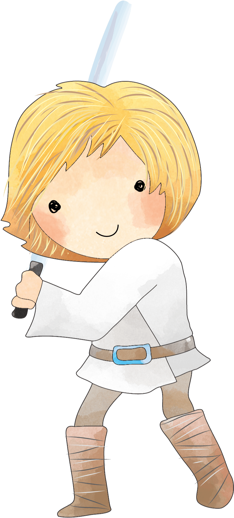 Luke Star Wars Clipart Png - Cartoon , Transparent Cartoon