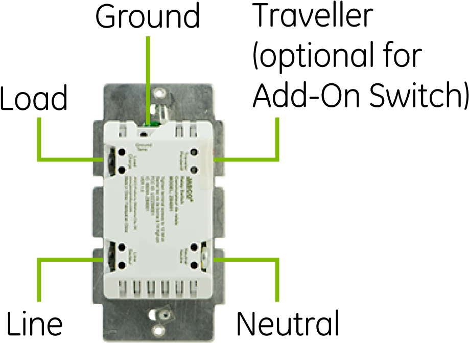 Ge Z Wave Plus Dimmer Wall Toggle Smart Switch Gen5 - Ge Smart Switch  Wiring Diagram , Transparent Cartoon - Jing.fm | Ge Dimmer Switch Wiring Diagram |  | Jing.fm