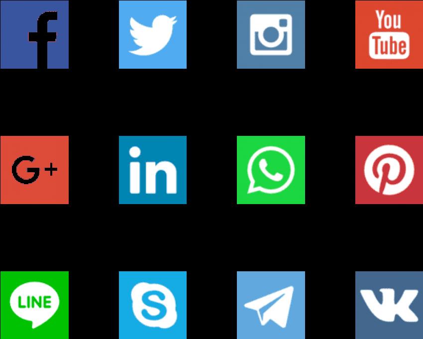 Transparent kind clipart - Free Png Download Kind Of Social Media Png Images Background - Vector Icon Social Media
