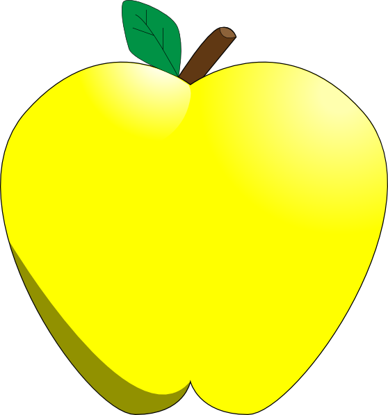 Transparent yellow apples clipart - Yellow Apple Clipart