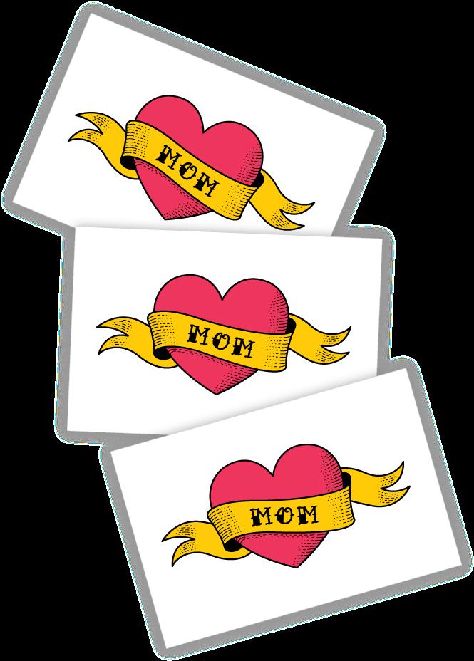 Transparent mom tattoo clipart - Love Mom - Tt271 - Tattoo